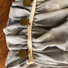 Load image into Gallery viewer, Soft Silver Half Scarf With Gold Coin Trim - מטפחות - כיסוי ראש - Aviva Lush tichels, head scarves, volumizers