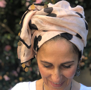 Baby Pink Silk/Linen Scarf - מטפחות - כיסוי ראש - Aviva Lush tichels, head scarves, volumizers