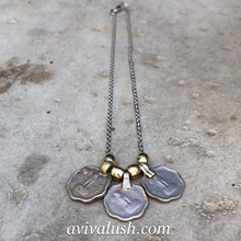 Load image into Gallery viewer, Rupee Necklace on Silver Coloured Chain - מטפחות - כיסוי ראש - Aviva Lush tichels, head scarves, volumizers