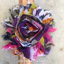Load image into Gallery viewer, Single Multicoloured Flower Headband - מטפחות - כיסוי ראש - Aviva Lush tichels, head scarves, volumizers