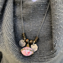 Load image into Gallery viewer, Pink Pendant Necklace With Rupee Coins - מטפחות - כיסוי ראש - Aviva Lush tichels, head scarves, volumizers