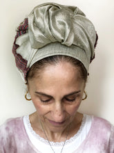 Load image into Gallery viewer, Formal Taupe Shimmer Scarf - מטפחות - כיסוי ראש - Aviva Lush tichels, head scarves, volumizers