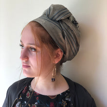 Load image into Gallery viewer, Khaki Green Scarf - מטפחות - כיסוי ראש - Aviva Lush tichels, head scarves, volumizers