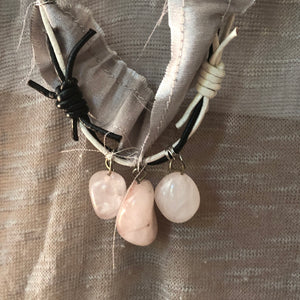 Rose Quartz Necklace - מטפחות - כיסוי ראש - Aviva Lush tichels, head scarves, volumizers