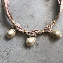 Load image into Gallery viewer, Cowrie Shell Necklace - מטפחות - כיסוי ראש - Aviva Lush tichels, head scarves, volumizers