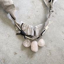 Load image into Gallery viewer, Rose Quartz Necklace - מטפחות - כיסוי ראש - Aviva Lush tichels, head scarves, volumizers