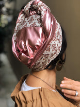 Load image into Gallery viewer, TWO IN ONE! Twin Fabric Rose Gold And Velvet Scarf