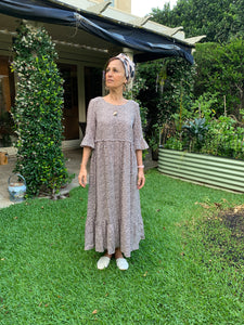 Peasant style maxi dress