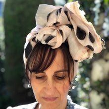 Load image into Gallery viewer, Variation of Baby Pink Silk/Linen Scarf - מטפחות - כיסוי ראש - Aviva Lush tichels, head scarves, volumizers