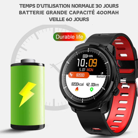 Montre Tensiomètre Smartwatch Mixte4 Bracelet Cuir Tan