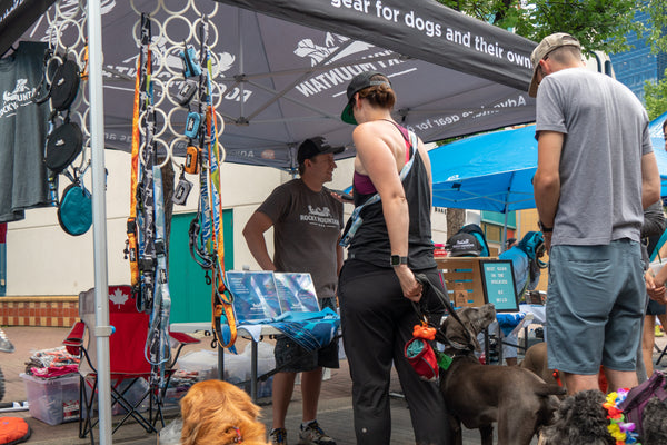 Rocky Mountain Dog booth at Petapalooza market