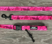 pink mountain dog leash