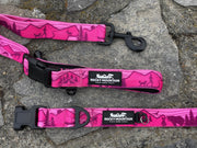 Pink Mountain Alpine Dog Collar