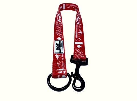 red single dog leash extension