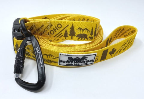 yellow canadian rockies leash