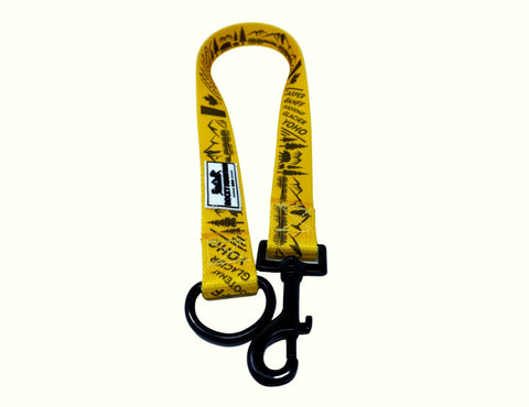 yellow single dog leash extension
