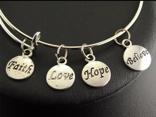 Faith Love Hope bracelet - CurvEssentials Boutique