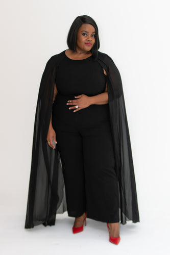 Therry Cape Jumpsuit