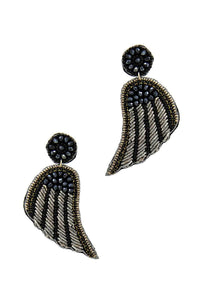 Fashion Modern Wing Patch Drop Earring