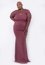 Load image into Gallery viewer, Channing Lace & Ruffle Dress - CurvEssentials Boutique