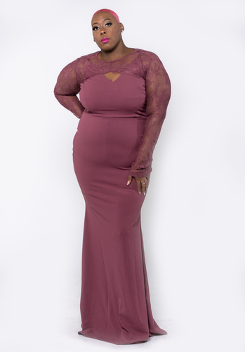 Channing Lace & Ruffle Dress - CurvEssentials Boutique