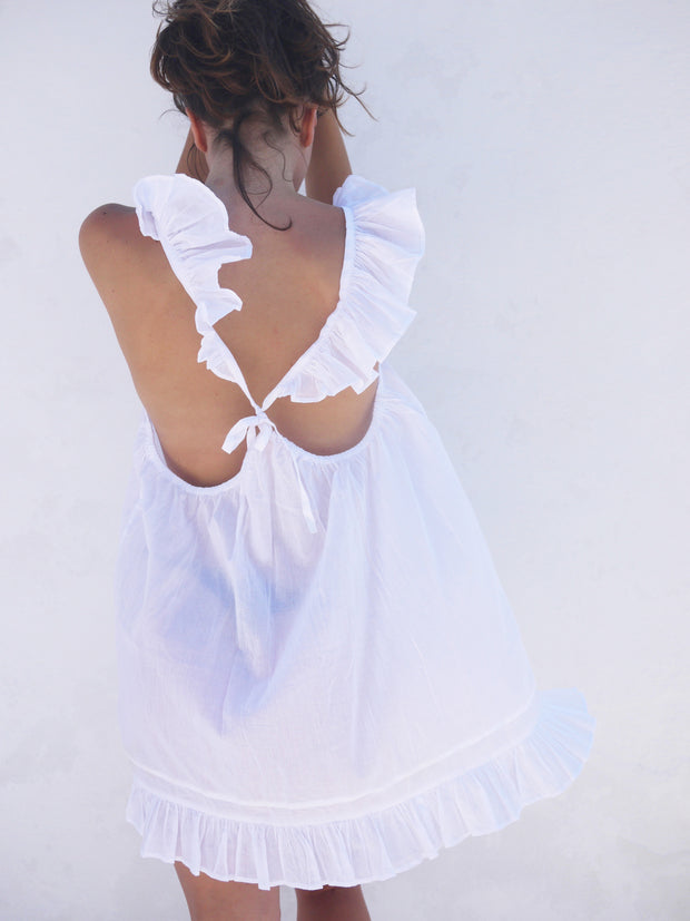 Butterfly Nighty in White