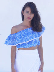 Alexandra Half Top - Greek Blue Nettie