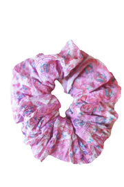 Blockprint Hair Scrunchie in Nettie Lavender Pink