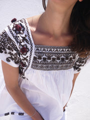 Paros Embroidered Blouse - White