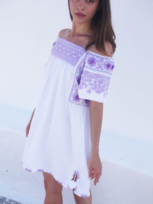Kiki Off The Shoulder Dress - Lavender