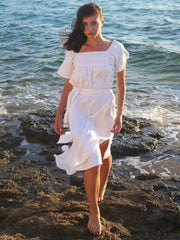Olympia Long Dress - White