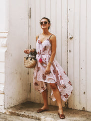 Esme Dress in Pinks and Orange Floral