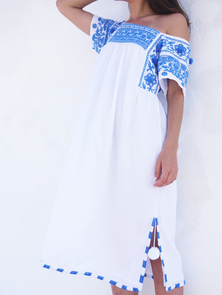 Olympia Long Dress - Grecian Blue