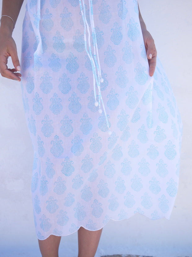 Long Náni Nighty in Paisley Seaglass