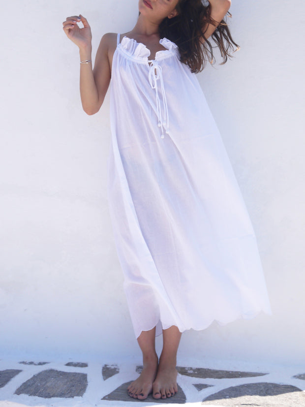 Long Náni Nighty in White