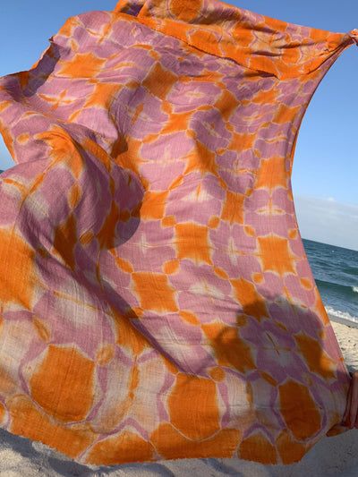 Clamp Dyed Pashmina Pareo - MORE COLORS AVAILABLE