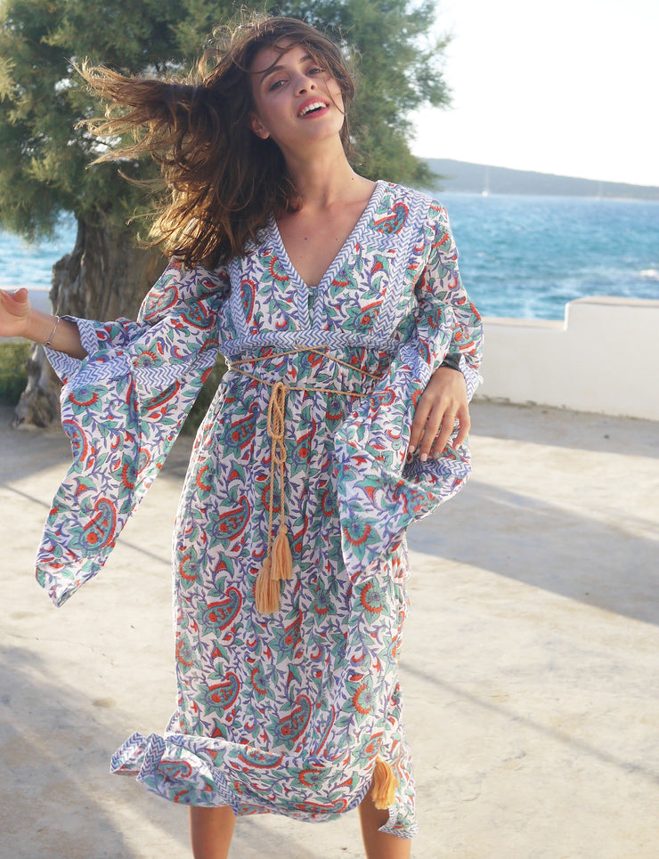 Loulou Quilted Kaftan