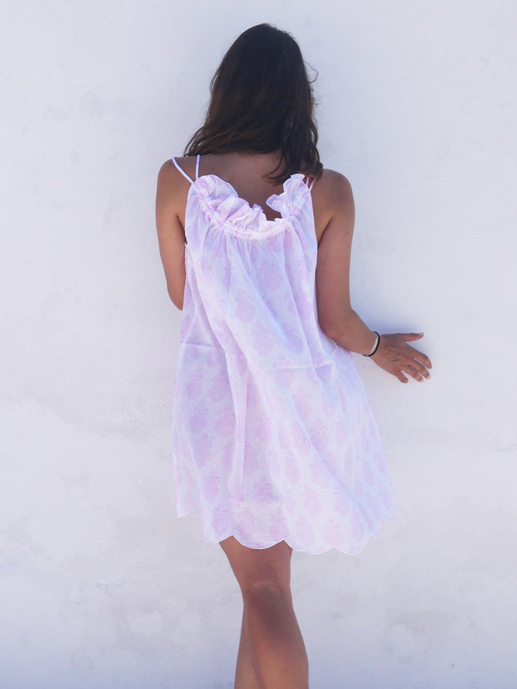 Mini Náni Nighty in Paisley Pink