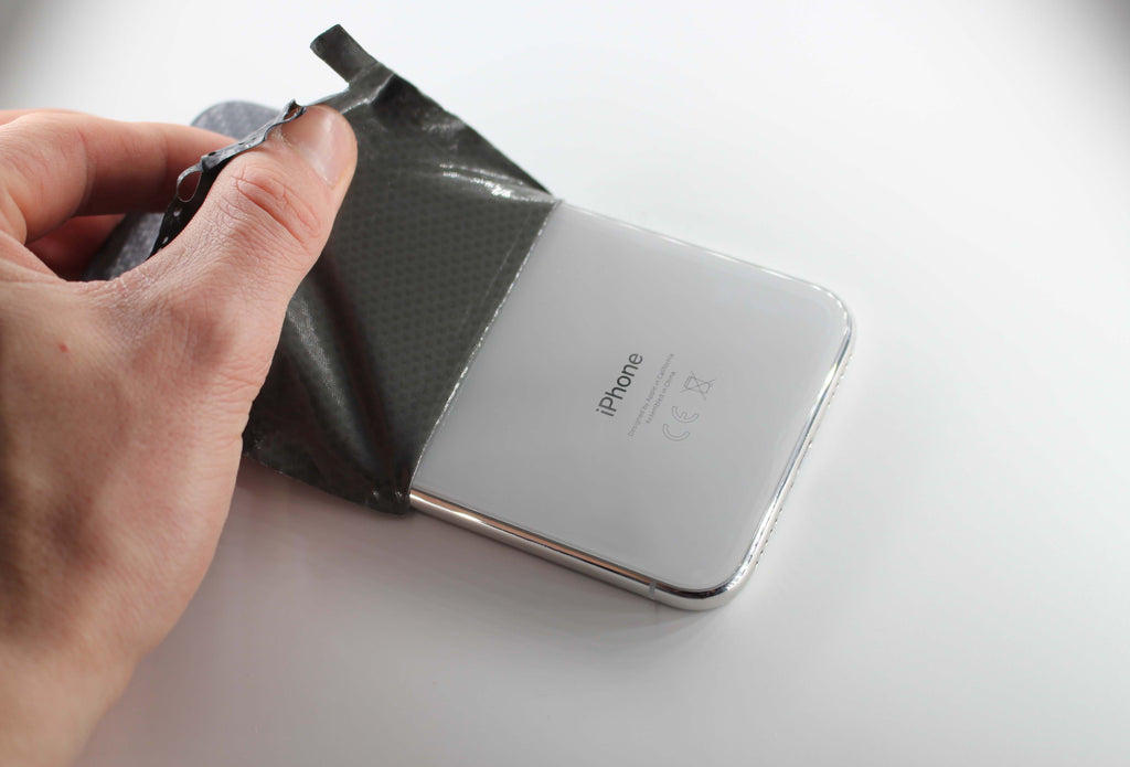 Removing Black Matrix iPhone X Skin from Device