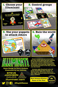 Illuminati - Game of Conspiracy | Steven Jackson Games |  2nd Ed | 2-6 Players - Kickstarted Games