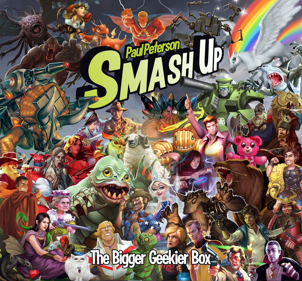 Paul Peterson's Smash Up: The Bigger Geekier Box + Rulebook Collector Set - Kickstarted Games