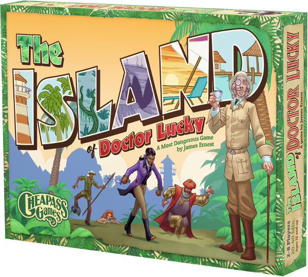 The Island of Doctor Lucky Board Game | Cheapass Games | 2-8 Players - Kickstarted Games