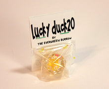 Load image into Gallery viewer, Lucky Duck20 D20 Resin Dice - Kickstarted Games