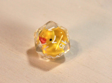 Lucky Duck20 D20 Resin Dice - Kickstarted Games