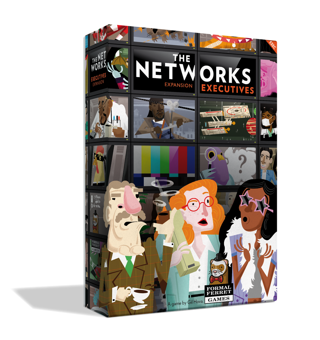 The Networks: Executives Card Game  | Formal Ferret Games - Kickstarted Games