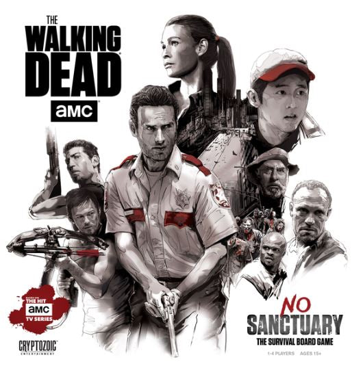 The Walking Dead: No Sanctuary Base Game w/ Standees - Kickstarted Games