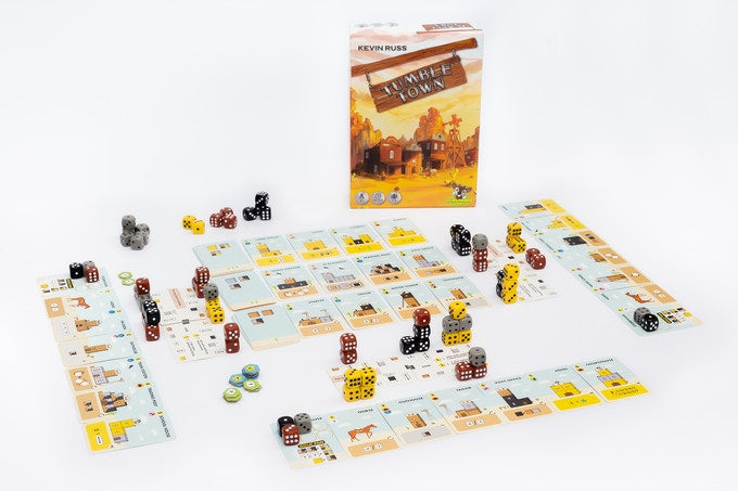 Tumble Town: the Dice Stacking Spatial Puzzle Game Kickstarter Edition (COMING SEPT 2020) - Kickstarted Games