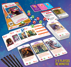 Cindr Push Your Luck Dice Game - Kickstarted Games