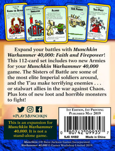 Munchkin Warhammer 40K Expansion Faith and Firepower | Steven Jackson Games - Kickstarted Games