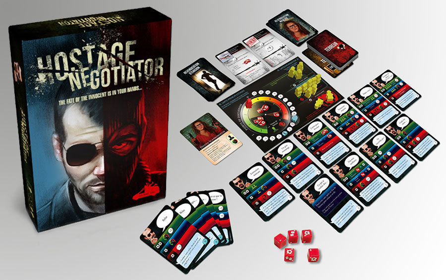Hostiage Negotiatior Board Game | Van Ryder Games | Solo Game of the Year - Kickstarted Games